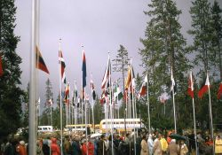 Gathering of International Delegates at Madison museum for rededication ceremonies for Yellowstone centennial Photo