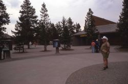 Display area behind Old Faithful visitor center Photo