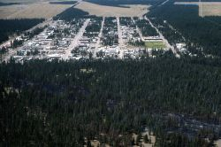 Aerial view of West Yellowstone Photo