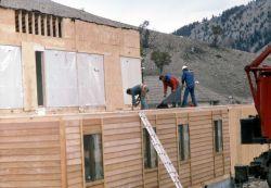 Construction of new Yellowstone Park Company dorm at Mammoth Hot Springs Photo