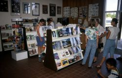 Yellowstone Association book sales area in the Canyon Visitor Center Photo