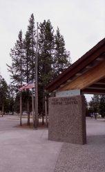 Corner of Old Faithful visitor center Photo