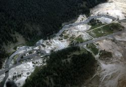 Aerial view of Riverside Geyser area Photo