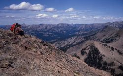 View from summit of Colter Peak Photo