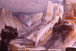 Grand Canyon of the Yellowstone painting - YELL 3083 Photo