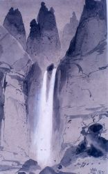 Tower Falls field sketch - YELL 8523 Photo