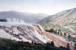 Postcard of Mammoth Terraces Photo
