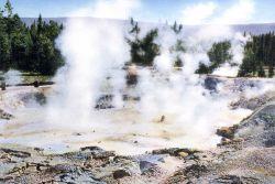 Postcard of Fountain Paint Pot Photo