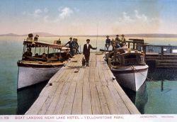 Postcard -168 - Boat landing near Lake Hotel Photo