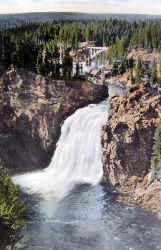 Postcard of the Upper Falls of the Yellowstone River Photo