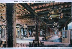 Postcard of Canyon Lodge Lounge Photo