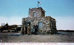 Postcard of Lookout, summit of Mt Washburn Photo