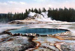 Postcard of Crested Pool & Castle Geyser Photo