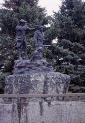 Lewis & Clark & Sacajawea statue in Fort Benton, Montana Photo