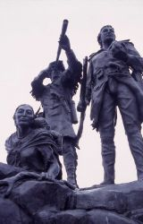 Lewis & Clark & Sacajawea statue in Fort Benton, Montana Photo
