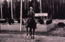 Ranger Martindale at Old Faithful black bear feeding ground Photo