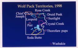 Wolf territory map Photo