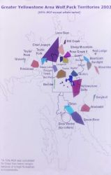 Wolf pack territory map Photo