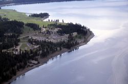 Aerial view of Lake Yellowstone Hotel Photo