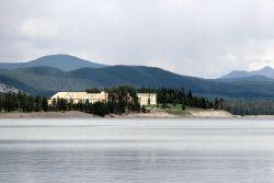 Lake Yellowstone Hotel as seen from Lake Yellowstone Photo