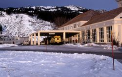 Mammoth Hotel in the winter Photo