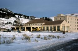 Mammoth Hot Springs Hotel in the winter Photo