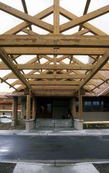 Snow Lodge entrance under construction Photo
