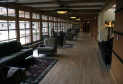 Sitting area in Old Faithful Snow Lodge Photo