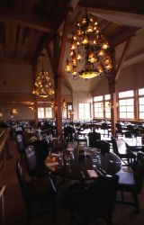 Interior of Old Faithful Snow Lodge dining room Photo