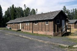 Exterior of a Lake Lodge cabin Photo