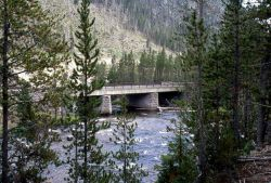 Road bridge over the Gibbon River Photo