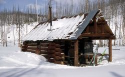 Calfee Creek patrol cabin in the winter Photo