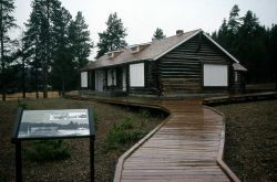 Museum of the National Park Ranger, wayside exhibit & boardwalk at Norris Photo