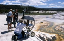 Filming Yellowstone's Electronic Field Trip Photo