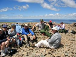 Ranger Harlan Kredit with group on Avalanche Peak fee hike Photo