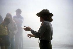 Interpretive ranger leading a guided walk Photo