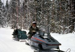 Ranger on snowmobile Photo