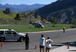 Yellowstone National Park Ranger & firecrew member with Air Idaho Life Flight Photo