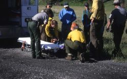 A rescue at Pebble Creek campground near the Thunderer Image