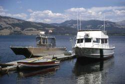 The Warwood & Robert E Mahn (boats) at the Trail Creek dock Photo