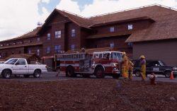 Old Faithful fire crew at snowlodge Photo