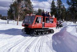 Winter fire engine at Old Faithful - winter olympics parade Photo