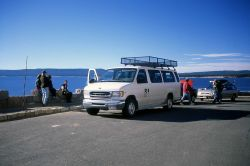 Yellowstone Association van & fall photo class at Steamboat Point (Sandra Nykerk, instructor) Photo