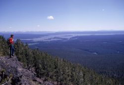 Hayden Valley from Observation Peak - Absaroka & Red Mountain Ranges Photo