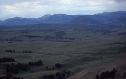 Aerial view of Blacktail Plateau, Bunsen Peak & the Gallatin Mountains Image