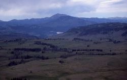 Aerial view of Blacktail Plateau, Mt Everts, Sepulcher Mountain & Electric Peak Image