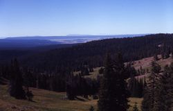 View looking south from Mt Washburn - Hayden Valley, Red Mountains, Teton Mountain Range Photo