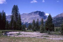 Cutoff Peak as seen from Pebble Creek Photo