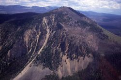 Aerial view of Bunsen Peak Image