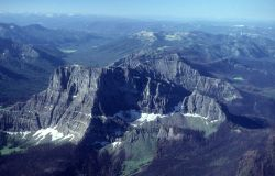 Aerial view of Cutoff Mountain looking southwest Image